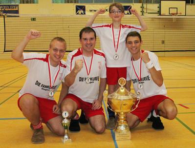 Deutscher Mannschaftsmeister 2011: Der FFC Hagen (v.l.) Sven Walter, Michael Kowallik, Arne Twer und David Zentarra. (Foto: Karsten-Thilo Raab)