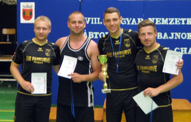 Sechster im Mannschaftswettbewerb: (v.l.) Sven Walter, Yvo Rüsseler, David Zentarra und Stefan Blank. (Foto: Uwe Walter)