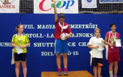 am in Ungarn auf Rang 2: Sarah Walter (2.v.l.) vom FFC Hagen. (Foto: Uwe Walter)