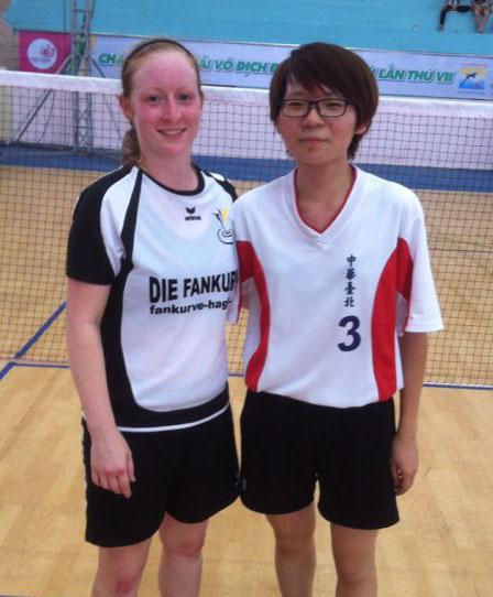 Wurde im Einzel Sechste bei der WM: Sarah Walter (links)