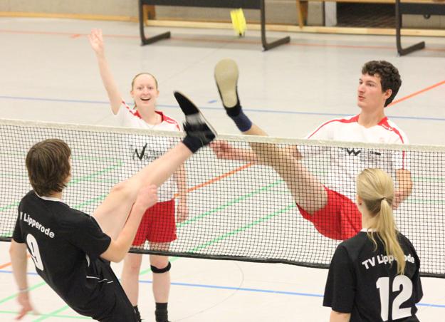 Sarah Walter und Florian Krick konnten schon während des letzten Spiels der Bundesliga förmlich entgegen winken. (Foto: Karsten-Thilo Raab)