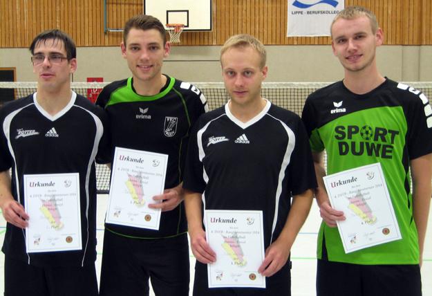 Die vier besten Herren: (v.l.) Philipp Münzner, David Zentarra, Sven Walter und Philipp Kühne. (Foto: Uwe Walter)