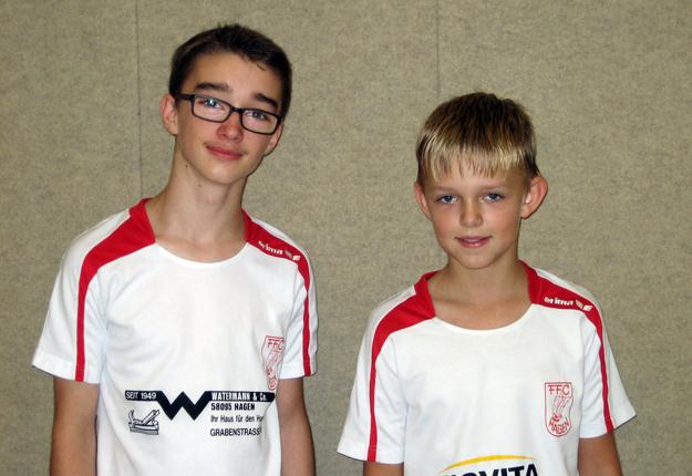 Siegten bei der B- und C-Jugend: Die Nachwuchstalente Arne Twer und Robin Weber. (Foto: Uwe Walter)