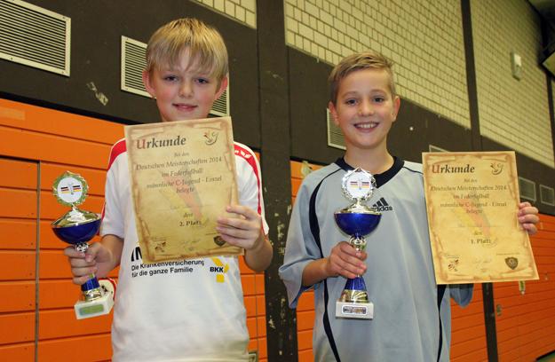 Die beiden besten deutschen C-Jugendlichen: (v.l.) Robin Weber und Felix Weyyland. (Foto: Karsten-Thilo Raab)