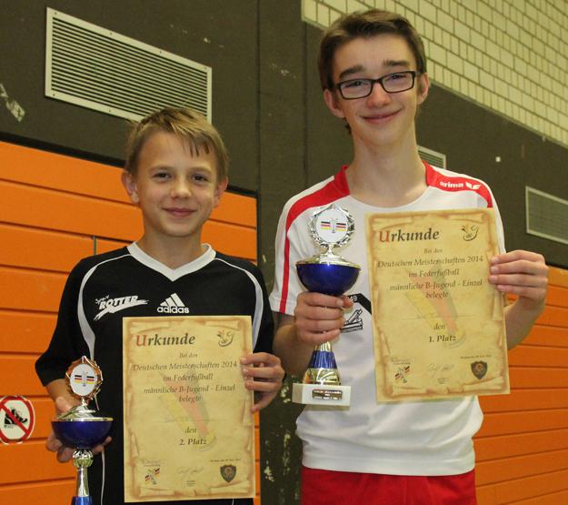 Die beiden besten deutschen B-Jugendlichen: (v.l.) Jonas Holt und Arne Twer. (Foto: Karsten-Thilo Raab)