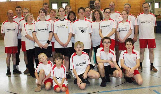 Die Teilnehmer der nunmehr siebten Vereinsmeisterschaft des FFC Hagen. Nicht im Bild Florian Krick.
