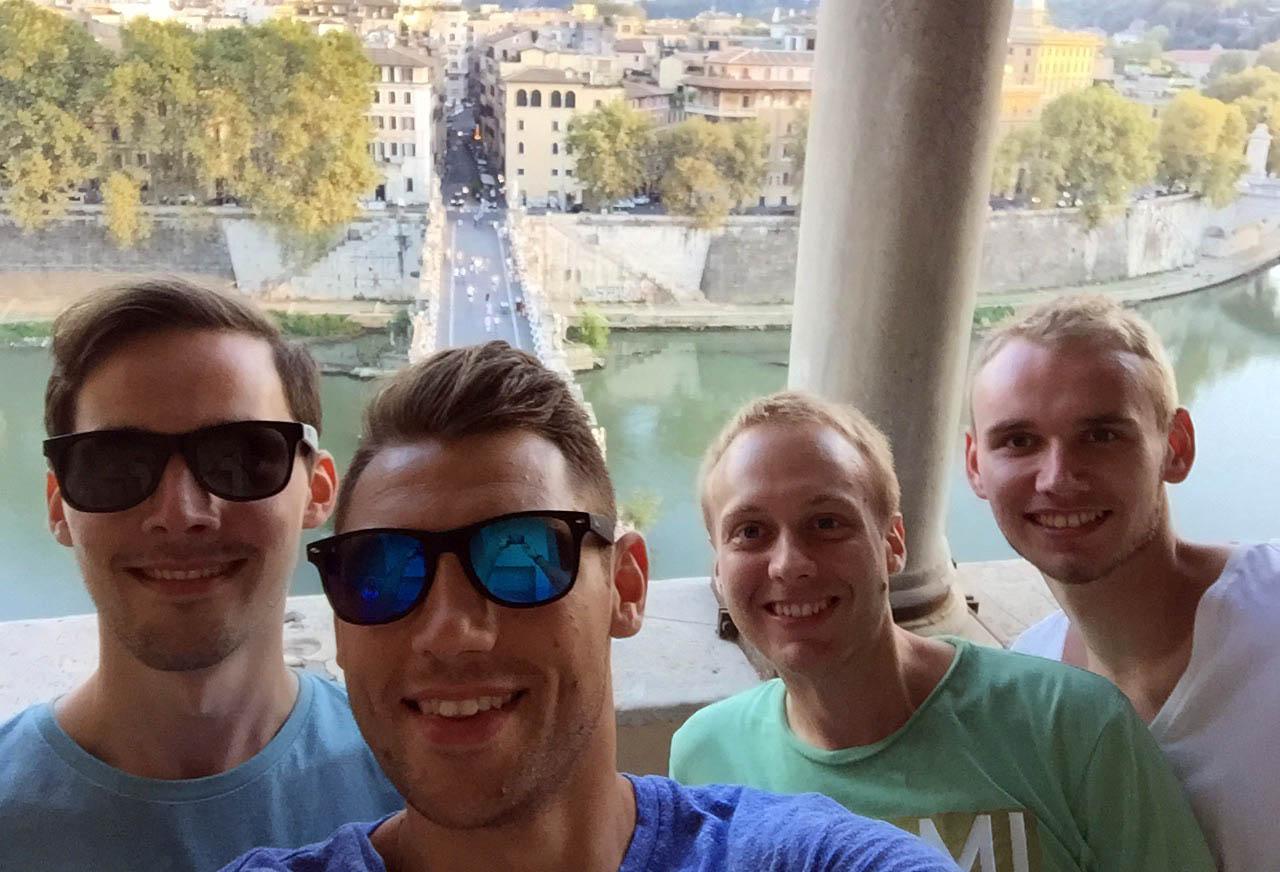 Den spielfreien Nachmittag nutzten ndie deutschen Spieler zum Sightseeing in Rom.