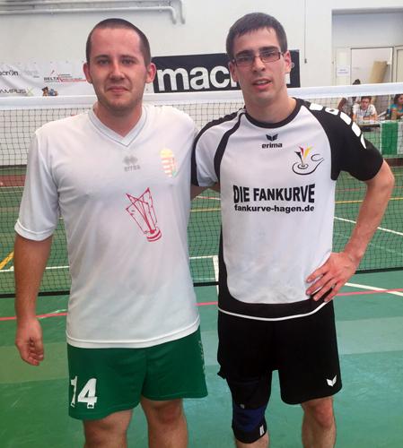 Bestritten das kleine Finale der WM: (v.l.) Gábor Herczeg und Philipp Münzner.