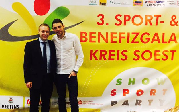David Zentarra begleitete seinen langjährigen Doppelpartner Sven Walter zur Soester Sportgala.