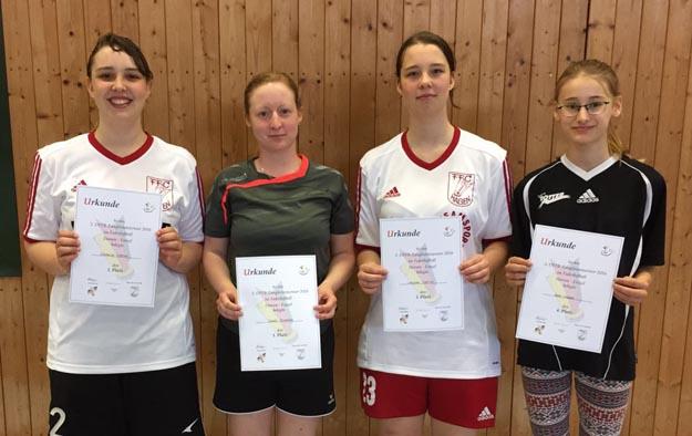 Die erfolgreichsten deutschen Damen: (v.l.) Nathalie Kröner, Sarah Rüsseler, Vanessa Kröner und Anne Weber.