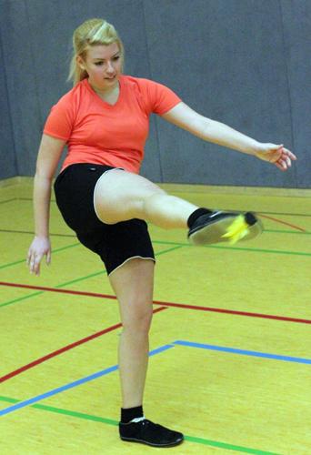 Frida Varga musste gleich in zwei Mannschaften spielen. (Foto Karsten-Thilo Raab)