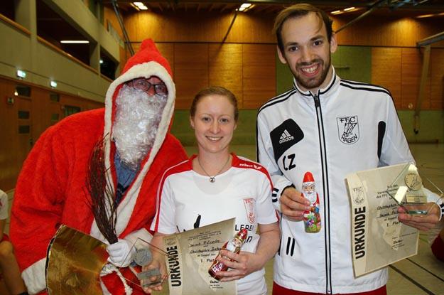 Vereinsmeister 2016 im Doppel: Sarah Rüsseler und Christopher Zentarra. (FOto Ulrike Katrin Peters)