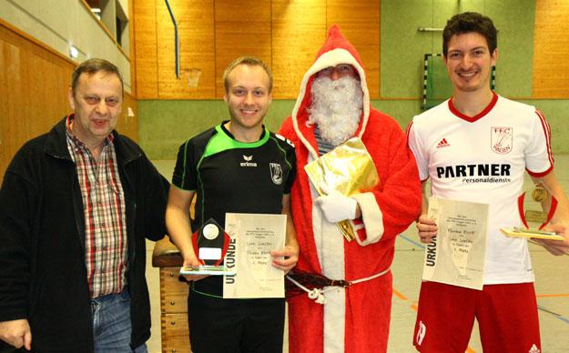 Vereinsmeister im Doppel: Sven Walter und Florian Krick. (Foto Karsten-Thilo Raab)